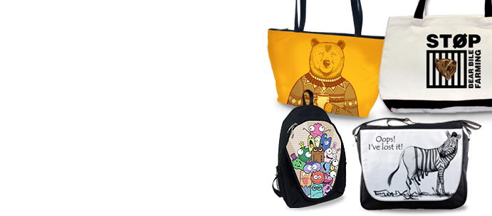 Personalised Hangbags, Schoolbags, Tote Bags, and more